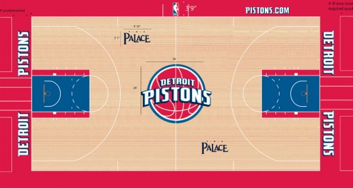 #5 detroit pistons court design