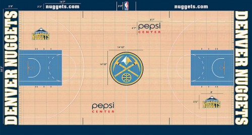 #6 denver nuggest court design