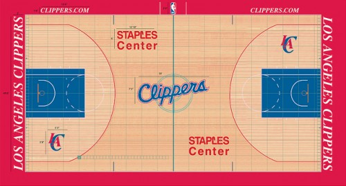 #7 la clippers court design