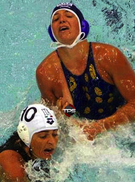 #7 water polo nipple slip boob squeeze foul copy