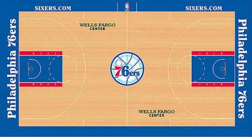 #8 philadelphia 76ers court design