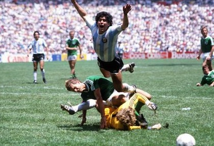 argentina west germany maradona
