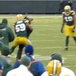 brad jones tackles field intruder