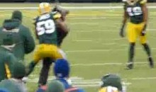 Packers' Brad Jones Tackles A Field Intruder (Video)