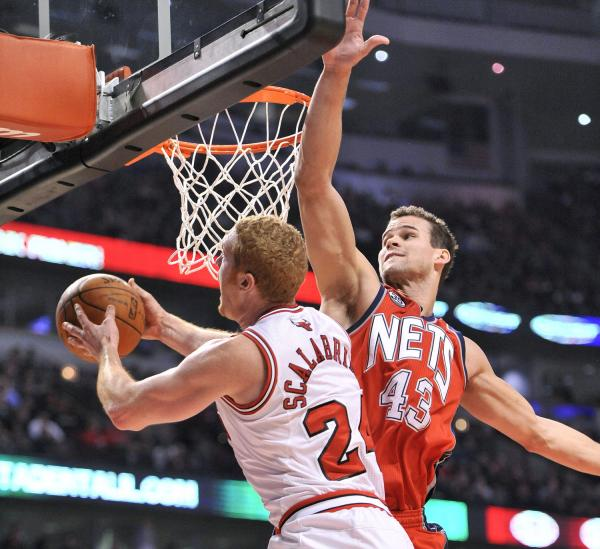 Brian Scalabrine Posterized Kris Humphries (Video) | Total ...