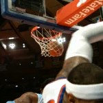 carmelo anthony crash into camera