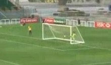 FC Metalist's Cristian Villagra Scores From 70-Yards Out (Video)