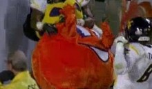 West Virginia's Darwin Cook Tackles The Orange Bowl Mascot (Video)