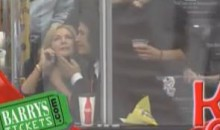 Gene Simmons Was On The Los Angeles Kings' Kiss Cam (Video)