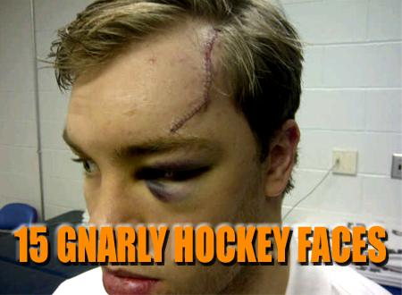 gnarly hockey faces