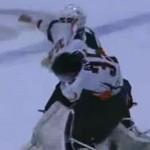 goalie fight during hockey brawl