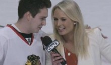 Blackhawks Fan Professes His Love For CSN Reporter Sarah Kustok (Video)