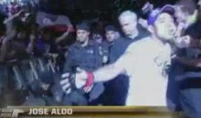 Jose Aldo's Cornerman Faceplants During Entrance (Video)