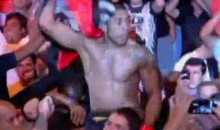 Jose Aldo Celebrates UFC 142 Win By Jumping Into The Crowd (Video)