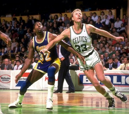 larry bird magic johnson celtics lakers