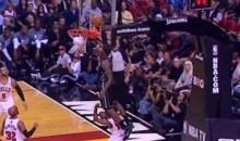 LeBron James Jumps Over John Lucas For The Alley-Oop Slam (Video)