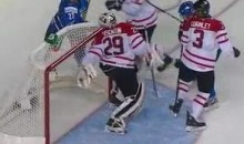 Canadian Goalie Mark Visentin Makes An Incredible Backhanded Glove Save (Video)