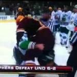 minnesota-north dakota handshake line fight