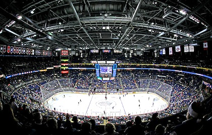 nationwide arena blue jackets game
