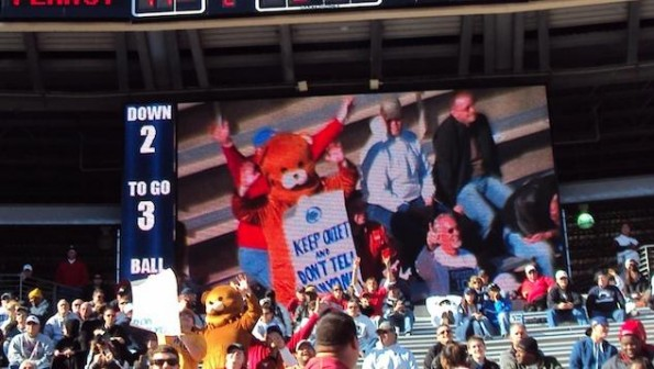 pedobear at penn state game