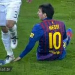 pepe stomps on messi's hand