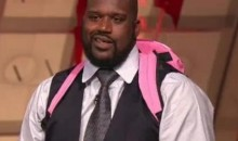 Shaquille O'Neal Wears A Hello Kitty Backpack (Video)