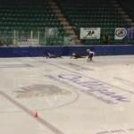 speed skating glass shatter
