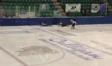 Speed Skating Fall Results In Shattered Glass (Video)