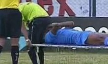 Stretcher Carrier FAIL Results In Face Full Of Crack For Footballer (Video)