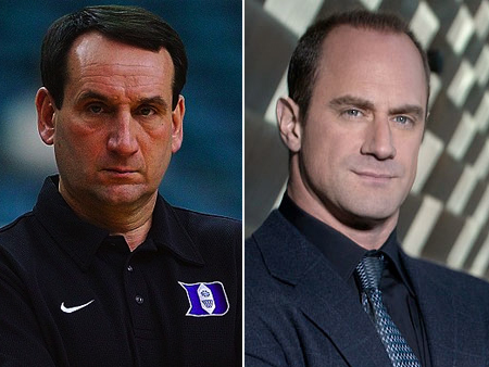 mike krzyzewski coach k christopher meloni law order svu celeb athlete look alikes