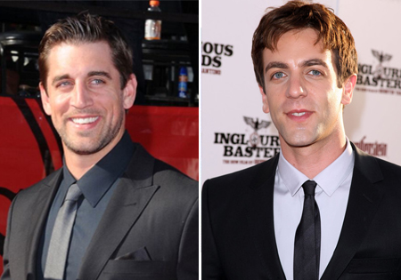 bj novak aaron rogers celeb athlete look alikes