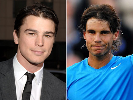 josh hartnett rafael nadal celeb athlete look alikes