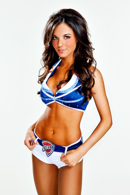 #4 oklahoma city thunder girls ashley