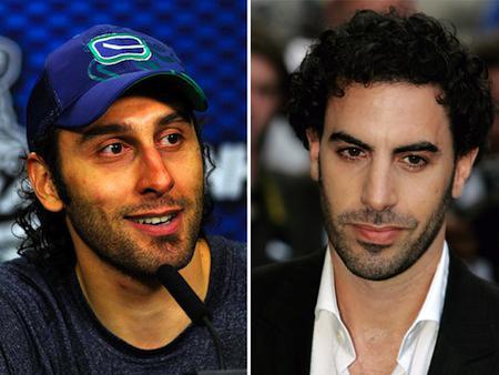 roberto luongo sacha baron cohen celeb athlete look alikes