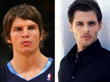 kyle korver james marsden celeb athlete look alikes