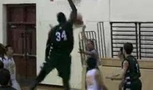 7-Foot-5 High School Basketball Player Just Dominating The Opposition (Video)