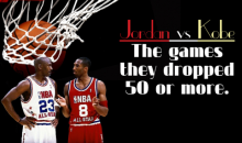 Comparing Michael Jordan And Kobe Bryant's 50+ Point Games (Infographic)