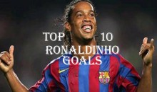 Top 10 Best Ronaldinho Goals (Videos)