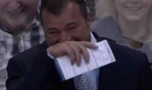 Canucks' Coach Alain Vigneault Finds Something Funny (Video)