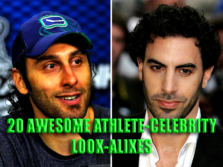 athlete-celebrity look-alikes