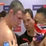 chisora slaps Klitschko