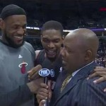 chris bosh interupts lebron interview