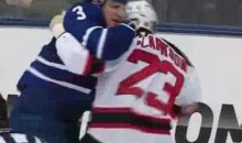 Frozen Fisticuffs Fight Of The Night — Phaneuf vs. Clarkson — 2/21/12