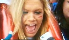 Blonde Giants Fan Attends Giants' Super Bowl Parade To See…Mark Sanchez?  (Video)
