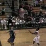 high school basketball player scores in his own net