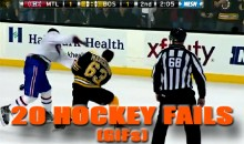 20 Hockey Fails (GIFs)