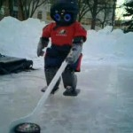 hockey playing robot