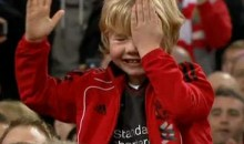 Liverpool Kid Pokes Himself In The Eye (Video)
