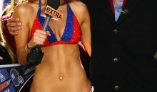 Maria Menounos Loses Bet, Wears New York Giants Bikini (Pics/Video)