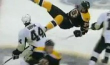 Want To See A Hockey Player Fly? (Video)